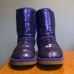 Purple sequin UGGS ✨